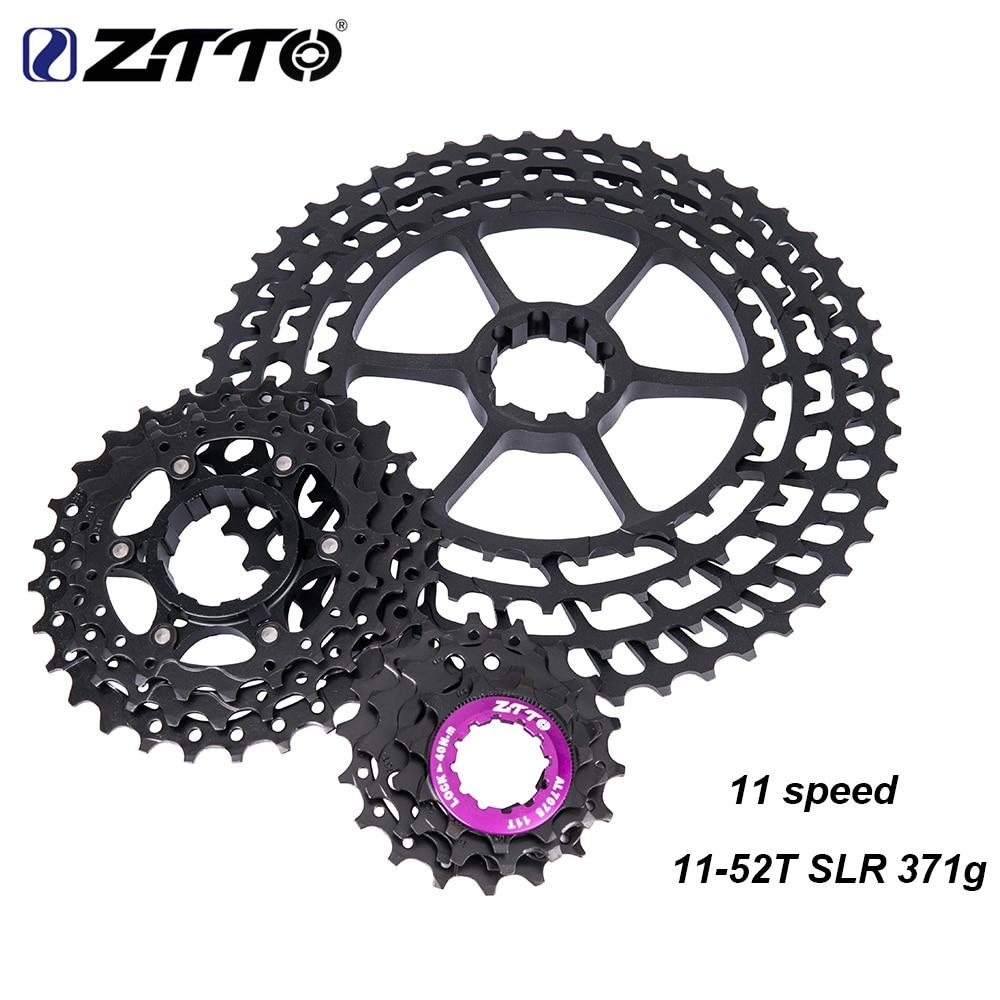 ZTTO MTB 11s 11 52T SLR Cassette 11Speed UltraLight Wide Ratio CNC Bicycle k7 Freewheel Mountain