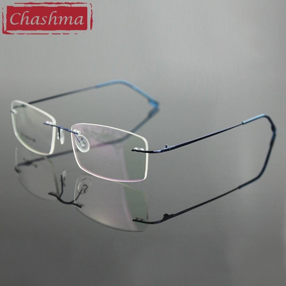 Chashma Randlose Titanlegierung Ultraleichte Myopie Brillengestell - Bekleidungszubehör - Foto 4
