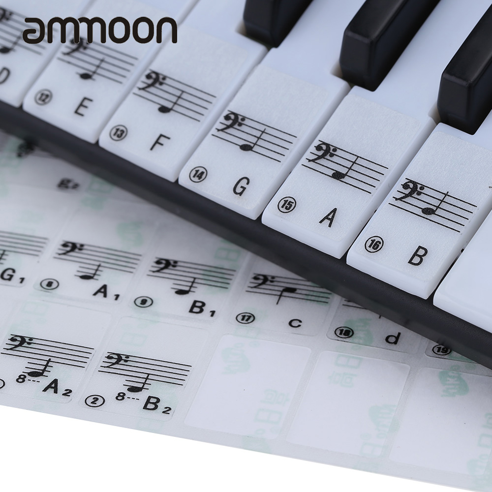 hot sale transparent piano keyboard sticker 49 61 key electronic keyboard 88 key piano stave. Black Bedroom Furniture Sets. Home Design Ideas