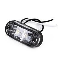 white car 2Pcs Set White 12V LED Car Side Marker Tail Light 24V Trailer Truck Lamp (4)