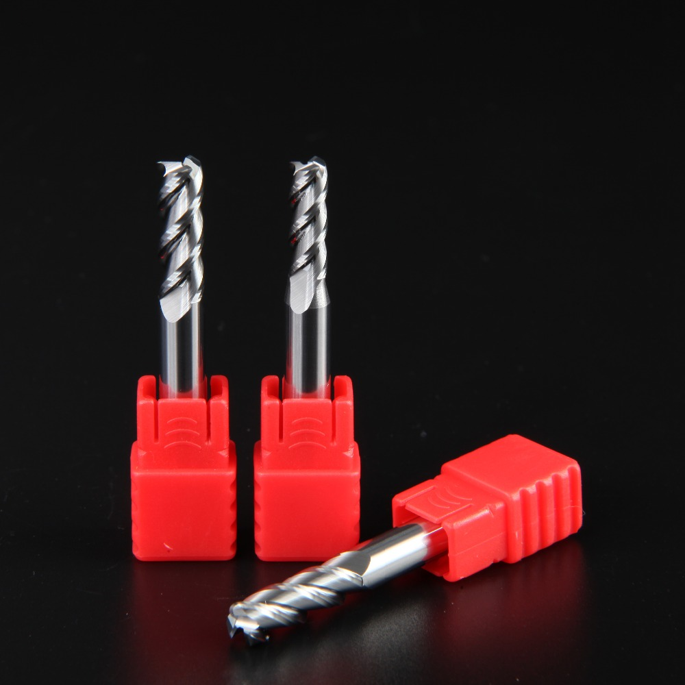 High Quality HRC55 4 Flutes Corner radius end mills Solide Carbide End Mills router bit Milling cutter Tools knife in Milling Cutter from Tools