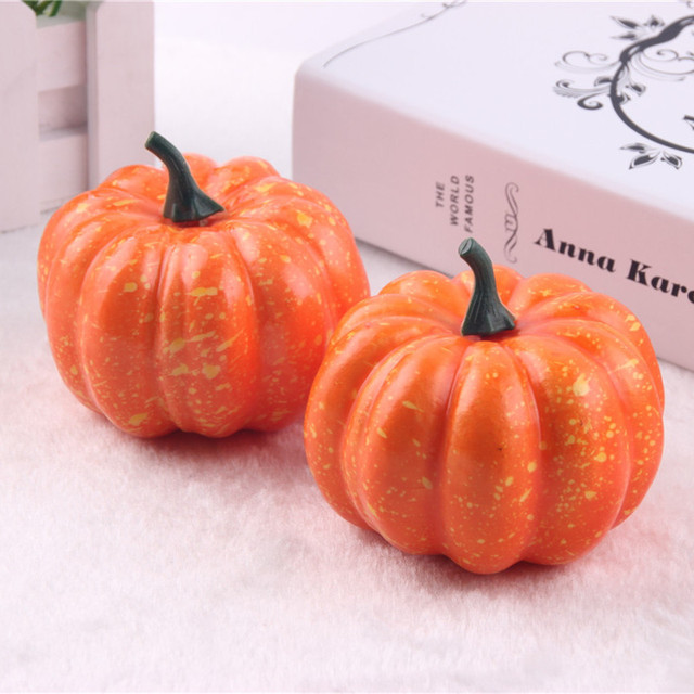 big realistic fall mini artificial pumpkins foam pumpkins 8 5cm