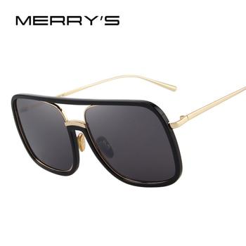 Gafas de sol de moda para hombre/mujer con montura grande de marca de diseñador S6169