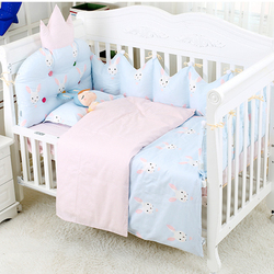 3D Crown Design Baby Bedding Set For Protective Head 7pcs Infant Newborn Crib Bedding Set Baby Organizer Suit For Bediings