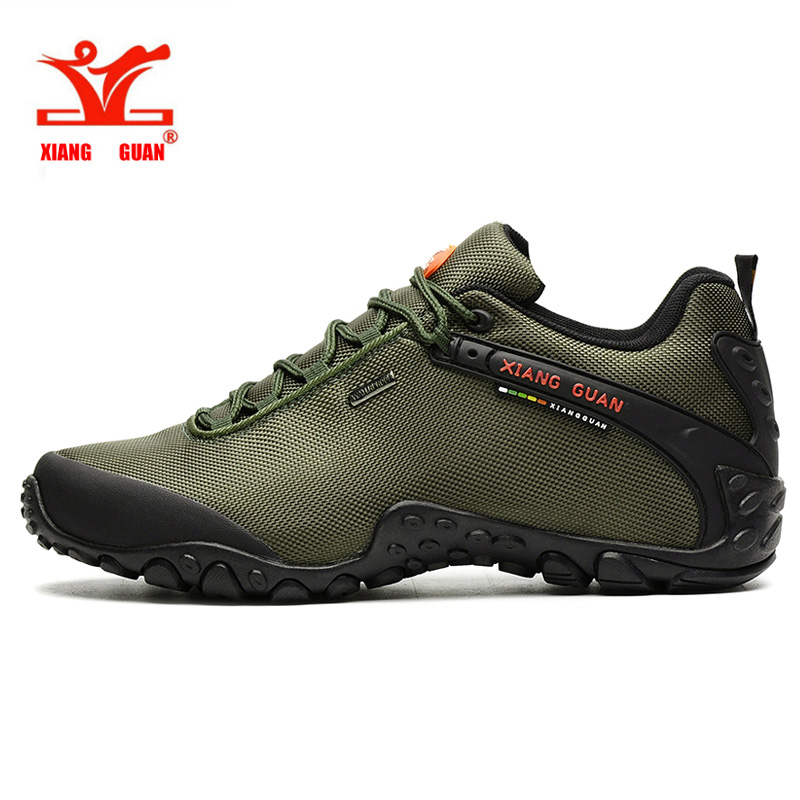 Xiang Guan Winter Men's Hiking Shoes Outdoor Men Mountain Sneaker Breathable Sport Shoes Damping Mens Climbing Shoe Size 39-45 2016 autumn winter hiking shoes men mountain climbing boots big size 11 12 13 outdoor shoes men military shoe waterproof sneaker