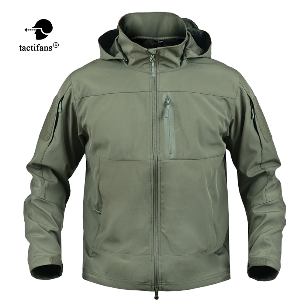 Tactifans Hiking Jackets Men TAD Softshell Waterproof Windbreakers Man Military Tactical Hooded Jackets