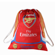 Arsenal Football Clubs Swerve Gym Bag Soccer Drawstring Backpack Drawstring Sport Bag for Soccer Fans