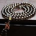 Hot Sale Natural 6mm  lover Vintage Tea Crystal  Beads  Bracelet Bohemia Style Natural Stone Strand Bracelets 108pcs bead