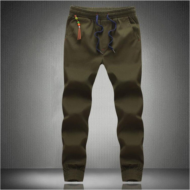 New Fashion Drawstring Men's High Quality Cotton Men's Trousers Casual #155