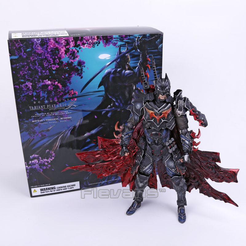 DC COMICS Play Arts KAI Batman Timeless Bushido PVC Action Figure Collectible Model Toy 27.5cm стоимость