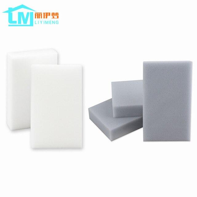 LIYIMENG 100 sztuk gąbka z melaminy magiczna gąbka gumka do kuchni biuro łazienka czyste akcesoria/do czyszczenia naczyń Nano 100*60 * 20mm