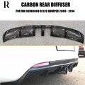 Диффузор из углеродного волокна  губа на задний бампер для Volkswagon Scirocco R R20 бампер 2009-2014 (не для нормального автомобиля)