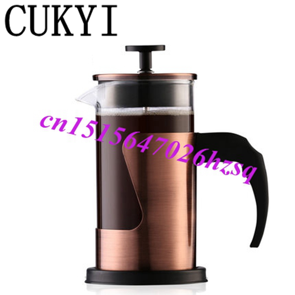 CUKYI 350ML Coffee Press pot /French Press Coffee Plunger French Coffee Press Hand pressure coffee teapot /gifts