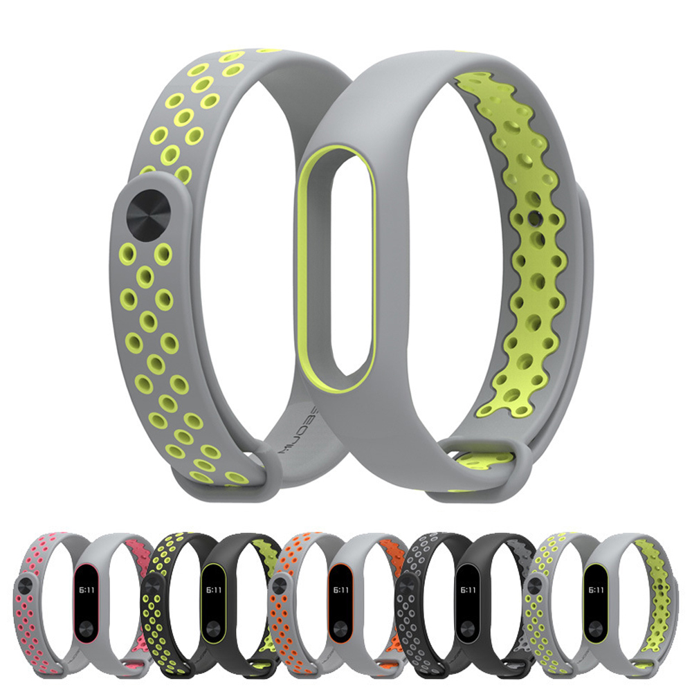 Sport Version Mi Band 2 Silicone Wrist Strap Multicolor For Xiaomi Mi Band 2 Bracelet Fashion Lightweight Mi Band 2 Strap