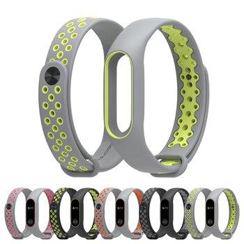 Sport Version Mi Band 2 Silicone Wrist Strap Multicolor for Xiaomi Mi Band 2 Bracelet Fashion Lightweight Mi Band 2 Strap