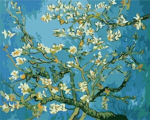 Rahmenlose Blühende Mandelbaum Ölgemälde Von Vincent Van Gogh Reproduktion Ölgemälde Auf Leinwand...