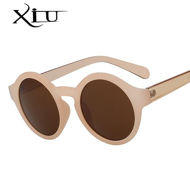 c2e500897d904 Rodada Círculo Óculos De Sol Das Mulheres Retro Vintage óculos de Sol para  As Mulheres Designer