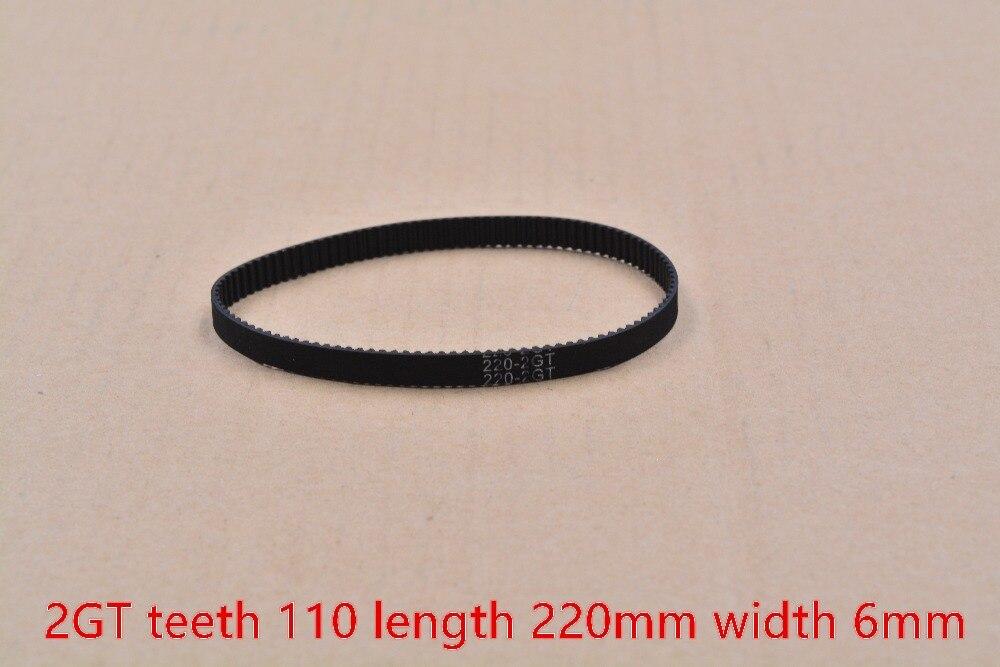 3d printer belt GT2 closed loop rubber 2GT timing  teeth 110 length 220mm width 6mm 220-2GT-6 1pcs 3d printer belt GT2 closed loop rubber 2GT timing  teeth 110 length 220mm width 6mm 220-2GT-6 1pcs
