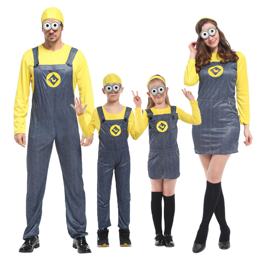 TODDLER FEMALE MINION DESPICABLE ME FILM FANCY DRESS COSTUME GIRLS KIDS OUTFIT