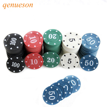 New Hot Promotional Texas mahjong chips ABS material 100 special suit fitted  5/10/20/50/100 casino coins qenueson