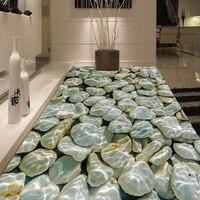 Photo Wallpaper Modern 3D Pebbles Water Waves Floor Tiles Painting Murals Sticker Living Room PVC Waterproof