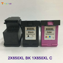 3PCS Vilaxh compatible 650xl Ink Cartridge replacement for hp 650 xl Deskjet 1015 1515 2515 2545 2645 3515 4645 Printer ink цена 2017