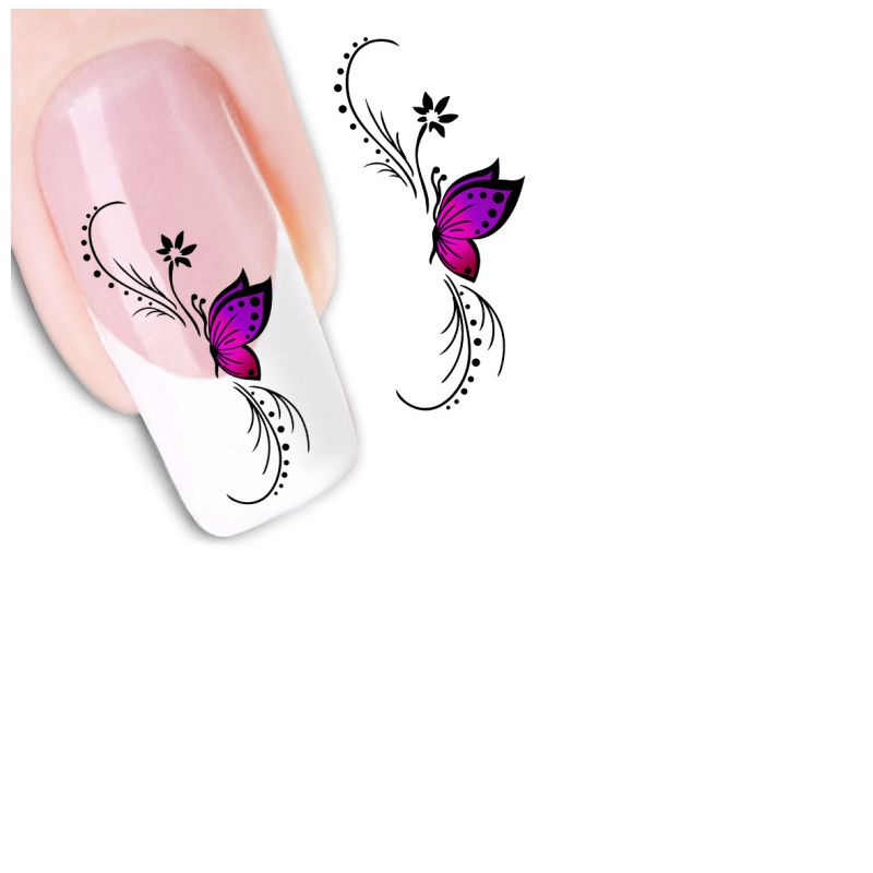 New nail sticker Fashion Woman 3D Design Butterfly Decals Nail Art Stickers Tips To Decoration nail stickers butterfly G24 0.5 5