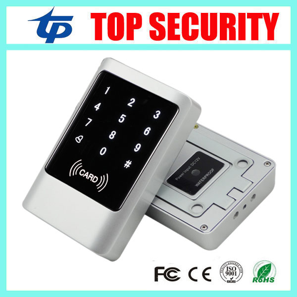 Good quality IP65 touch screen metal door access control card reader 125KHZ RFID card smart proximity card weigand card reader metal rfid em card reader ip68 waterproof metal standalone door lock access control system with keypad 2000 card users capacity