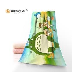 Nowy niestandardowy mój sąsiad Totoro ręcznik z nadrukiem bawełna twarz/ręczniki kąpielowe tkanina z mikrofibry dla dzieci mężczyzna kobiet ręczniki pod prysznic A8.8