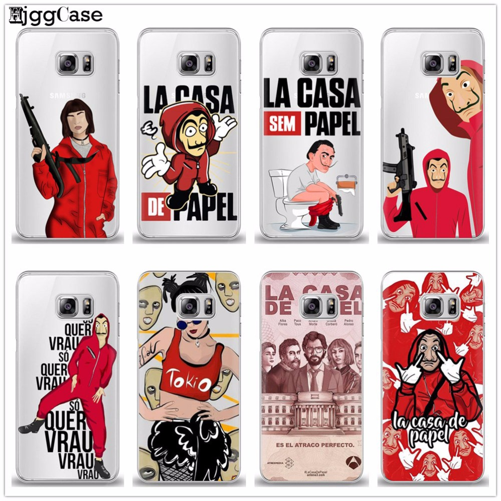 28c020ddd43 La Casa de papel Soft Silicone TPU Phone Cover Case For Samsung Galaxy A3  A5 A7