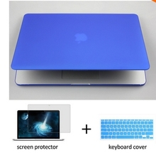 3 in 1 Transparent crystal laptop case shell keyboard cover LCD For Apple Macbook air Pro