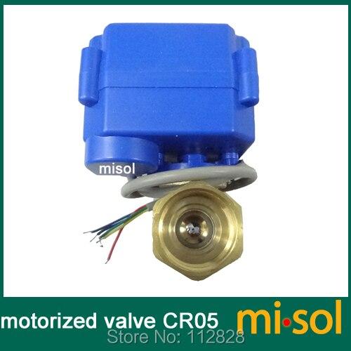 """motorized valve brass, G1/2"""" DN15, 2 way, CR05, electrical valve, motorized ball valve"""