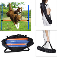 2017Pet Dogs Outdoors Games Exercise Training Equipment Agile Barrier Bar Pet Training Toys Dogs Jump High Toys Sports Equipment