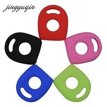 Jingyuqin capa de silicone, transponder, capa para chave, para vw polo, golf, seat ibiza, leon, skoda, octavia, transponder