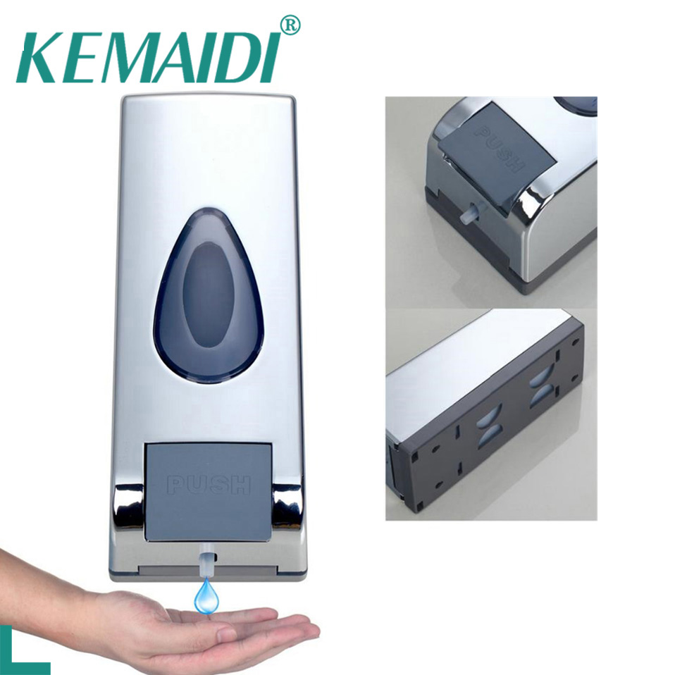 Bathroom Shower Dispensers Us 11 76 50 Off Kemaidi Free Shipping Wall Mounted Soap Shampoo Dispenser Shower Helper For Bathroom Hospital Hotel Liquid Soap Dispensers In Liquid