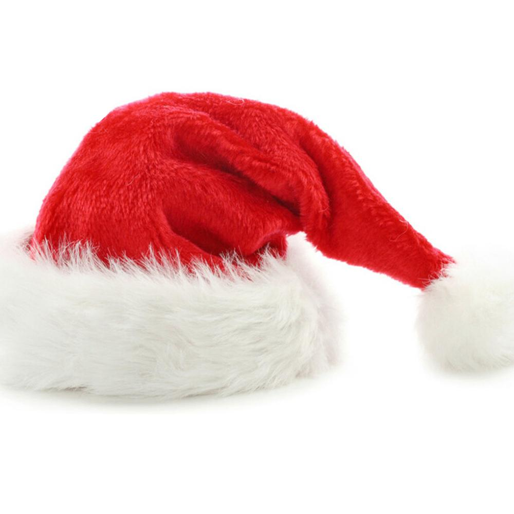 New Children Kids Baby Girl Christmas Plush Hat Santa Claus Cap With Ball  Xmas Gift Decoration Ornaments Christmas Supplies-in Christmas Hats from  Home ... 461a3985b54