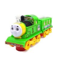 Małe elektryczne Thomas pociąg muzyka lekka uniwersalne zabawki edukacyjne zabawki Dla Dzieci