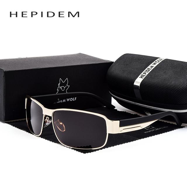 HEPIDEM 2017 dos homens Novos Fresco Quadrado Óculos Polarizados Homens Marca Designer Óculos de Sol de Grandes Dimensões Acessórios Gafas Oculos H8485