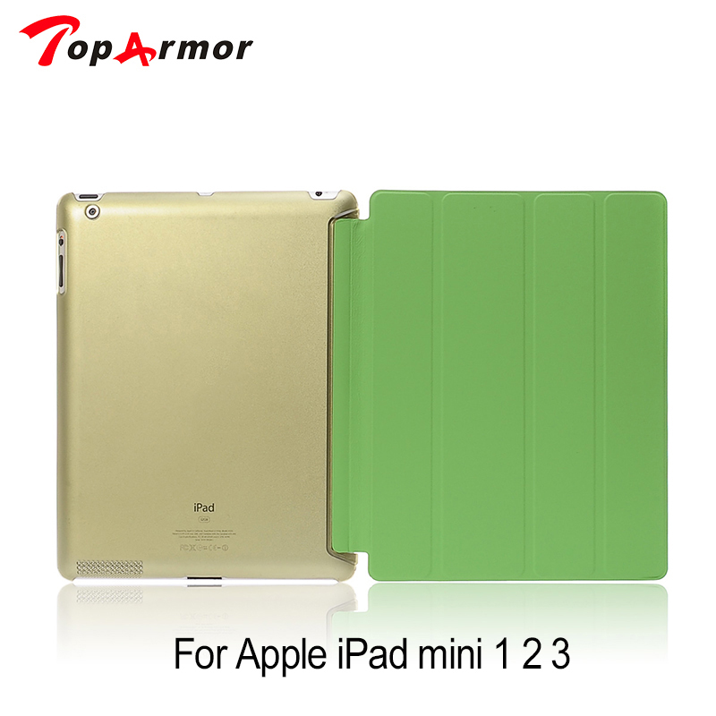 TopArmor Hot Slim Magnetic PU Leather Smart Cover Stand For ipad mini 2 + Hard PC Case For ipad Mini 3  retina + free gift  цены
