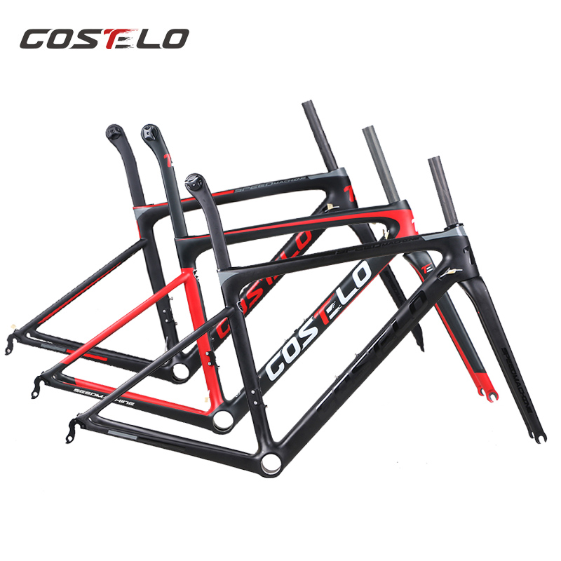 790g DISC Costelo Speedmachine 2.0 ultra light carbon road bike frame Costelo bicycle bicicleta frame carbon fiber cheap frame(China)
