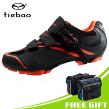 Tiebao Cycling Shoes men new 2018 Breathable Sapatilha Ciclismo Mtb Shoes Men Bicycle Self-locking sports Mountain Bike Shoes (China)