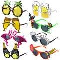 Гавайские вечерние солнцезащитные очки, забавные Гавайские очки, тропические модные платья, забавные летние вечерние реквизиты для фотост...