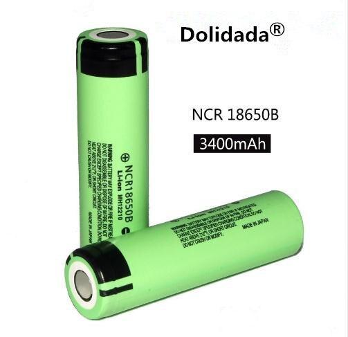 Dolidada 100% original 18650 battery 3400mah 3.7v lithium battery for panasonic NCR18650B 3400mah 3.7V flashlight battery. 1
