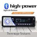1 Din Audio Del Coche de Radio Auto Estéreo de Música Bluetooth con Pantalla OLED Reproductor de MP3 AUX FM Radios Con 5 V USB Cargador de Teléfono Manos Libres puerto