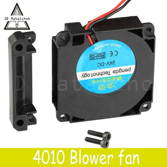 3D Matalchok принтер аксессуары 12 В 24 в 40*10 мм 4010 40 мм DC Turbo подшипник вентилятора воздуходувы Радиальные Вентиляторы Охлаждения Creality CR-10 комплект