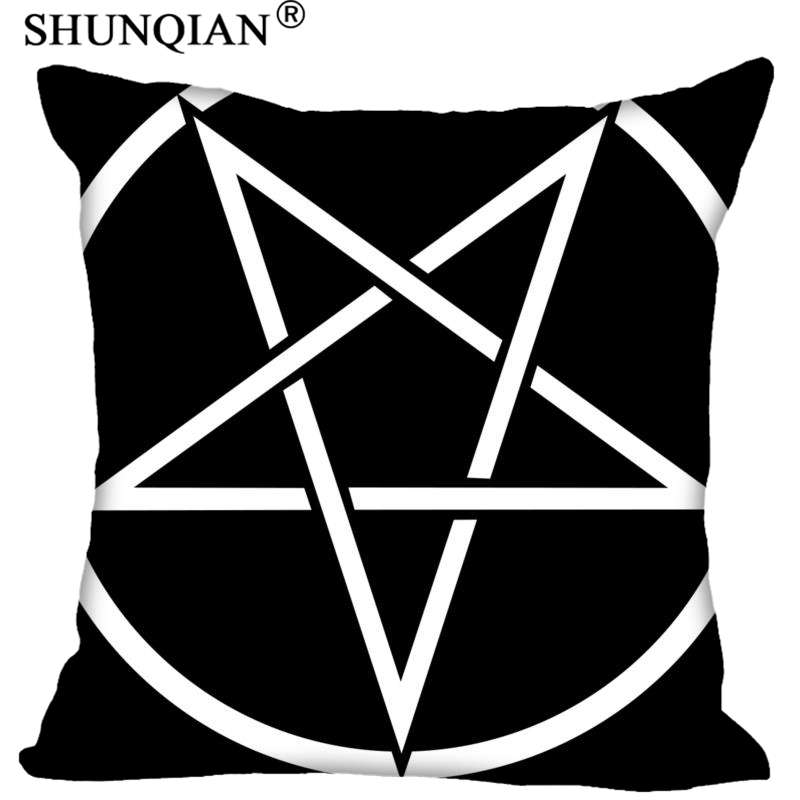 Satan Pillowcase Square Zippered Home Decorative Pillow Cover Wedding Custom Gift For Two Sides Printed|Pillow Case| |  - title=