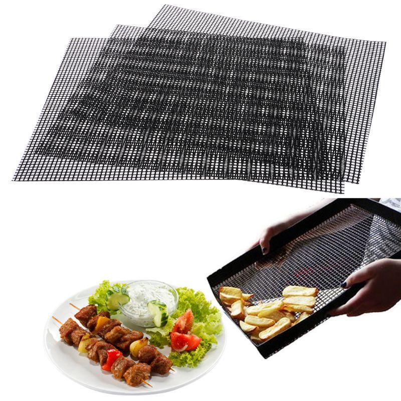 3 шт. тефлоновый для приготовлением пищи на костре коврики для гриля антипригарное сетка термостойкие барбекю Кухня Инструменты