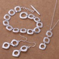AS219 Trendy wholesale silver Jewelry Sets Bracelet 163 + Necklace 239 + Earring 319 /allajcsa bmiakdpa
