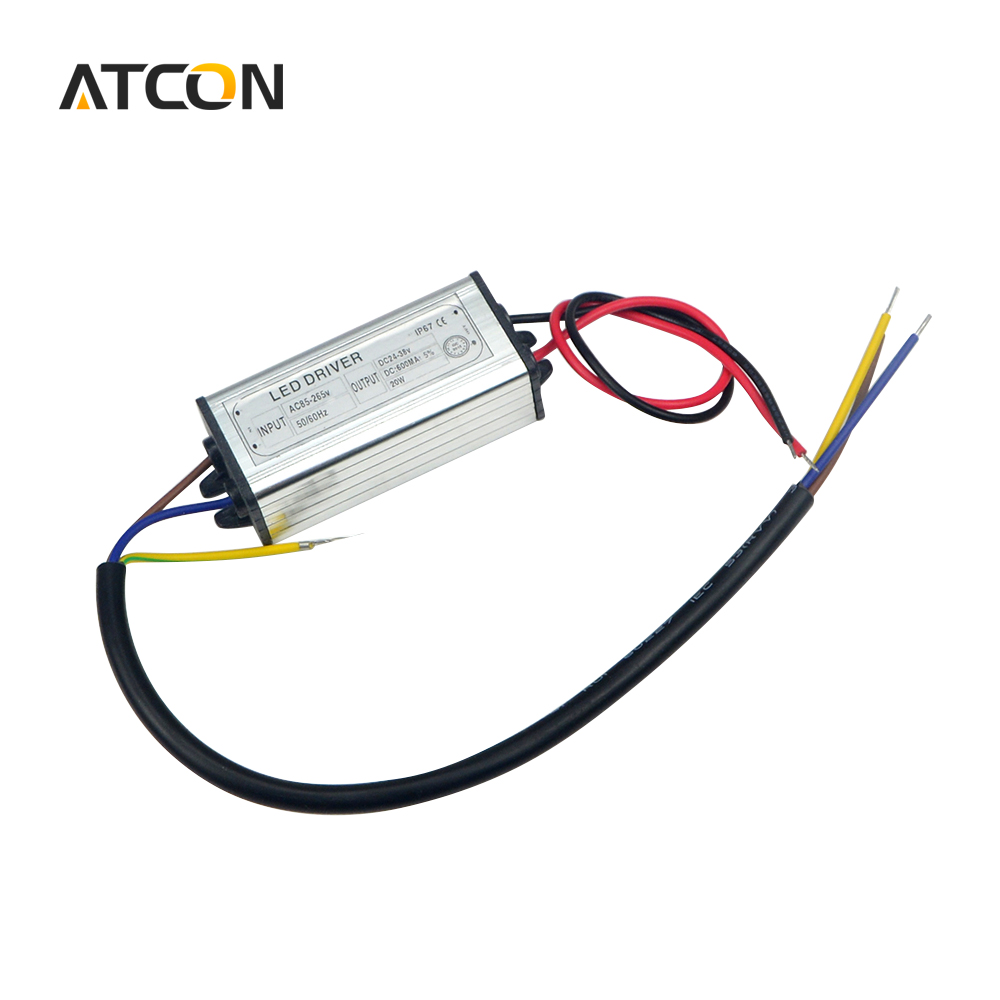 US $4 04 25% OFF 1Pcs DC 24V 38V 20W 600mA Power Supply Floodlight LED  Driver (10 series 2 parallel) lighting Transformer IP67 Waterproof  Adapter-in