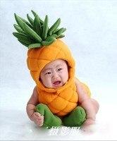 제인 Z 앤 아기 파인애플 의상 유아 유아 사진 소품 소년 소녀 plushoutfits 3 개 과일 의류 모자 + 양말 + 바디 슈트